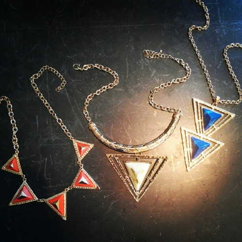 Thursday's Obsession:  Our new Tribal necklaces!  They're the perfect statement! You can dress up any outfit with these beauties, or dress them down with a great pair of denim shorts or boyfriend jeans.    Shop them here!