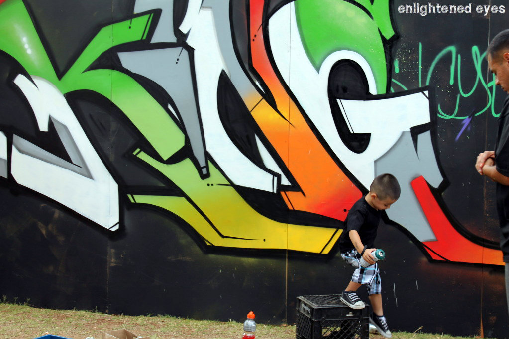 My favorite graff' artist.  Nothing like art to bond father and son.