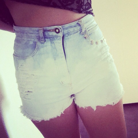 High Waisted Short DIY by me!