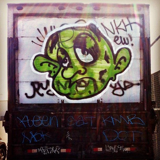 #graffiti #sanfrancisco #truck  (Taken with Instagram at Islais Landing)