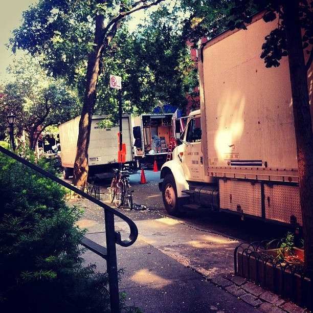 Movie filming on my street. God, I love New York.  (Taken with Instagram)
