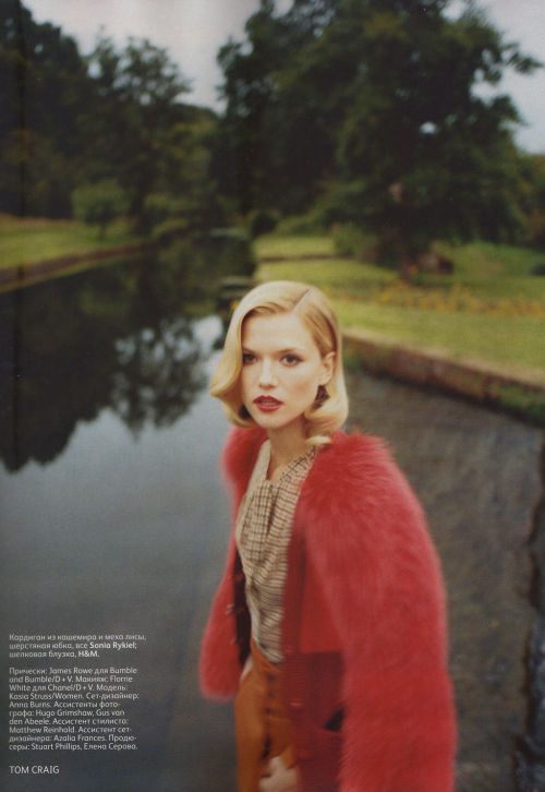 Kasia Struss by Tom Craig | Vogue Russia October 2011 |  12/12st: Ekaterina Mukhinahair: James Rowemake-up: Florrie White