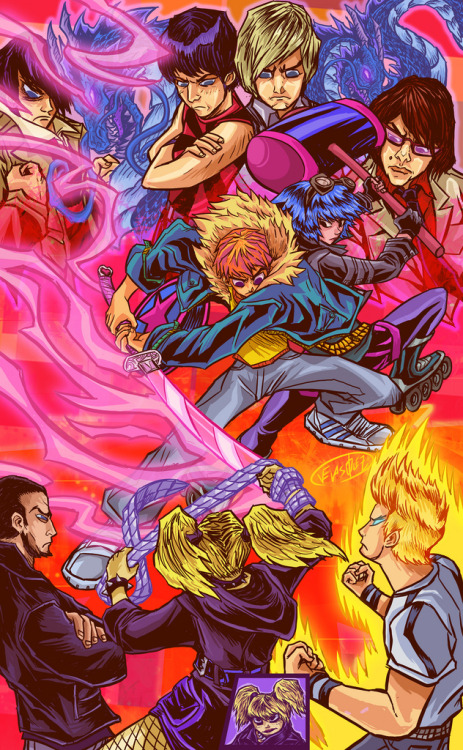 xombiedirge:  Scott Pilgrim vs The 7 Evil Exes by David Velásquez