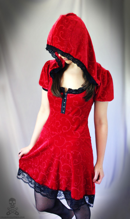 new version of my Red Riding Hood gothic lolita dress by SmarmyClothes.com