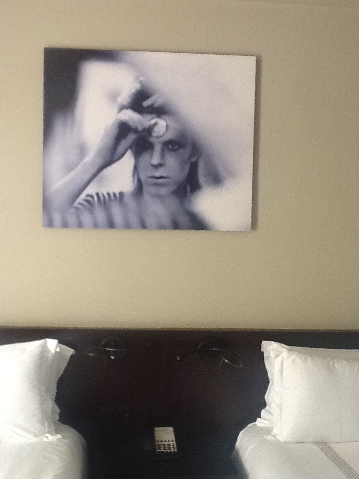 Bowie in my bedroom @ Hollywood Roosevelt, Hollywood