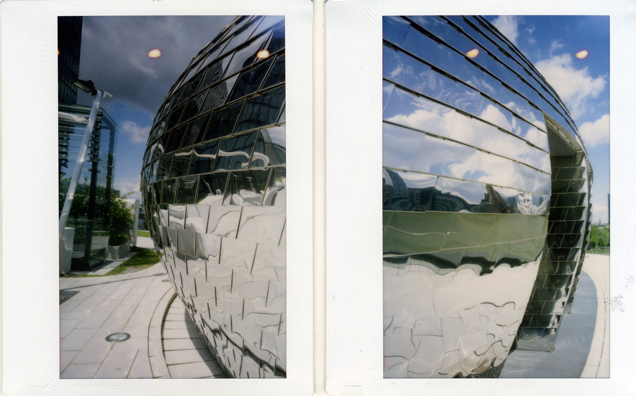 two sides of the blob Camera: Polaroid 600SE, modified back, Film: Fuji Instax
