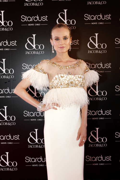 suicideblonde:  Diane Kruger (in Marchesa) at the Splendors of Nature Gala in Monte Carlo, July 6th