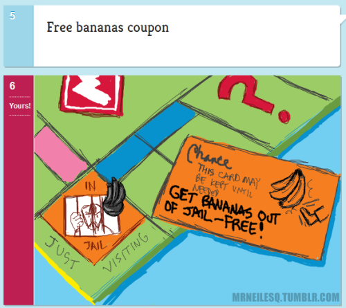 Free Bananas Coupon Monopoly is best played with 'house rules'.  Mine just happens to be a madhouse. http://doodleordie.com/profile/mrneil