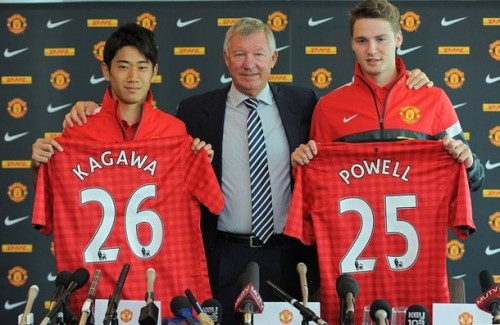 keepcalmandlovemanchesterunited:  Welcome to Manchester United, Shinji Kagawa and Nick Powell!