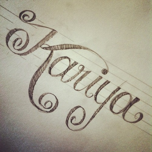 I've been a little bit obsessed with lettering lately.