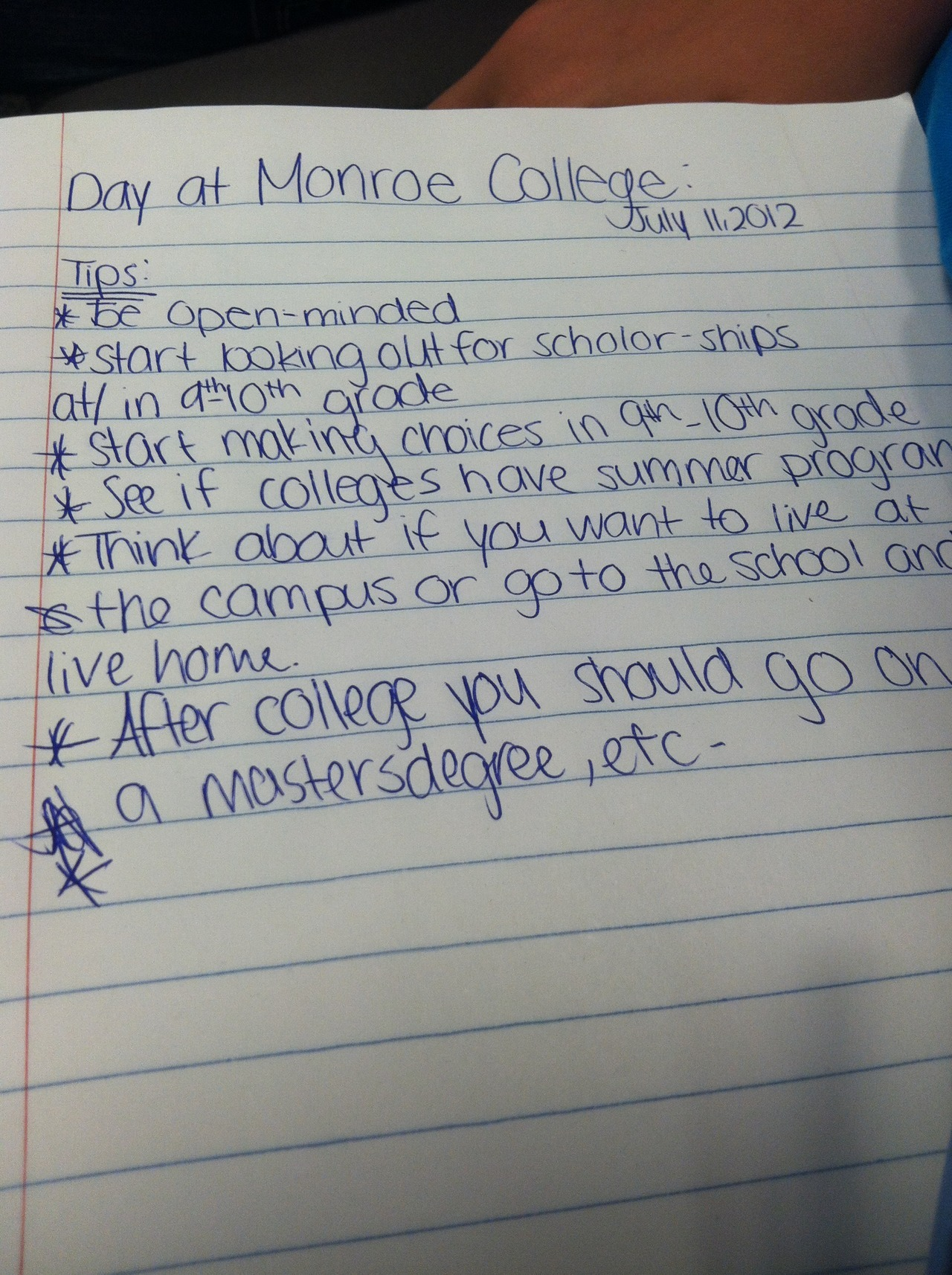 """Be Open-minded"" -at Monroe College"