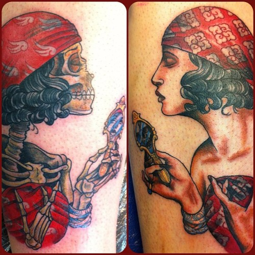 Billy's Gypsy Ladies finished #tattoo #oliverjerrold #gypsygirl #skull #pretty #hopeandglory  (Taken with Instagram)