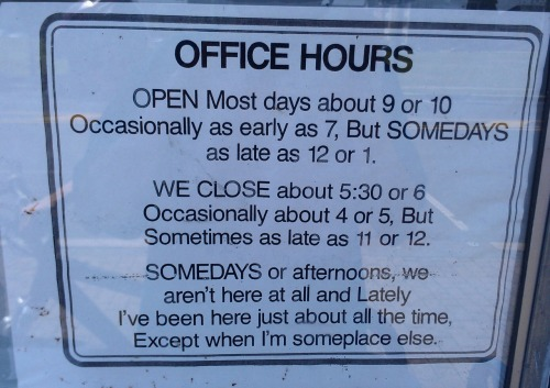Sign posted on a local shops window.