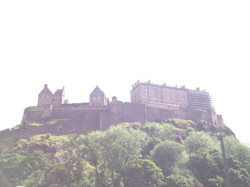 Edinburgh castle from the West End.