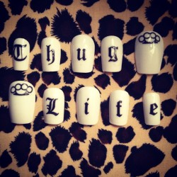NEW Thug Life nails with knuckle dusters! On sale at nailmailme.com in 20 mins!! (Taken with Instagram)