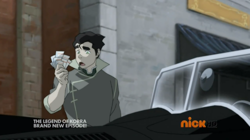 the episode in which bolin wonders why mako has so many one dollar bills