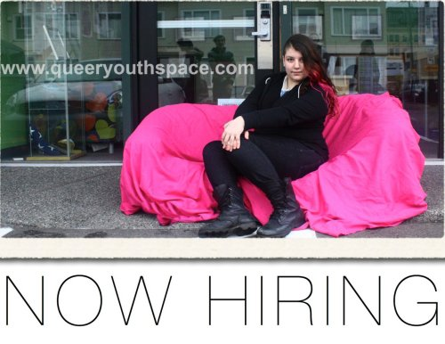 We are pleased to announce that we are now hiring five staff members for Queer Youth Space. Please read and spread the word! http://bit.ly/QYSJOBS