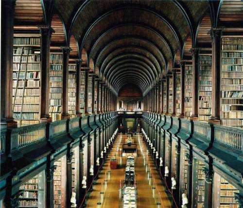 bureauoftrade:  Trinity Library, Dublin. The world's greatest counter argument to the Kindle. Overcome illiteracy at BofT