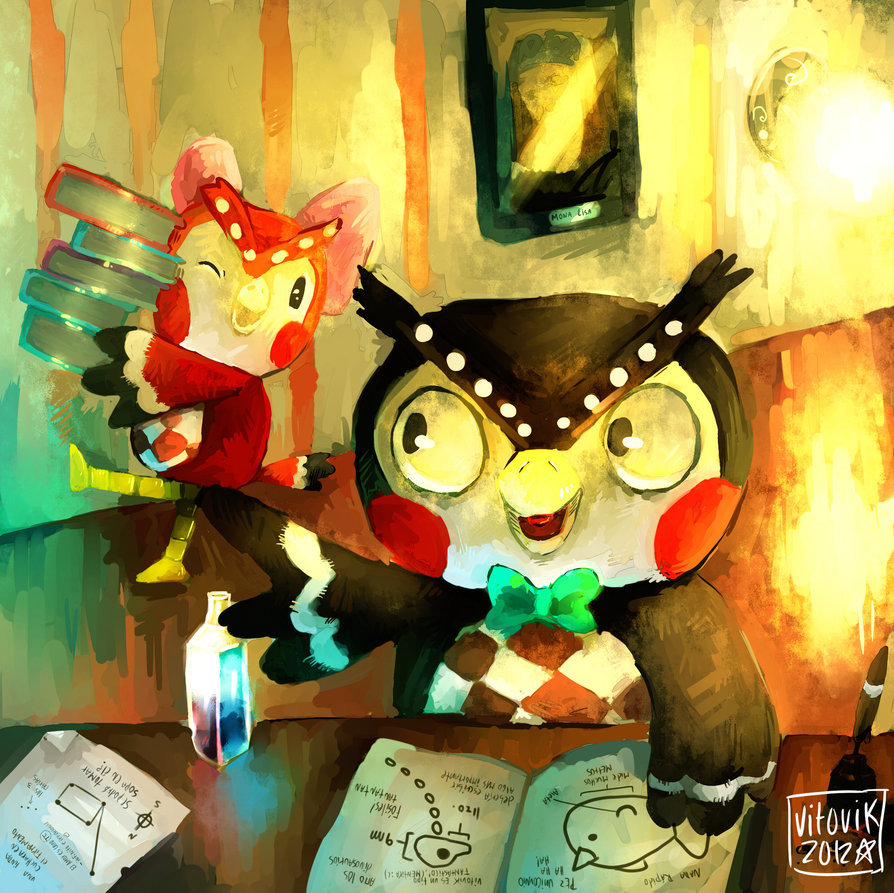 Blathers and Celeste  Created by Victor Peña