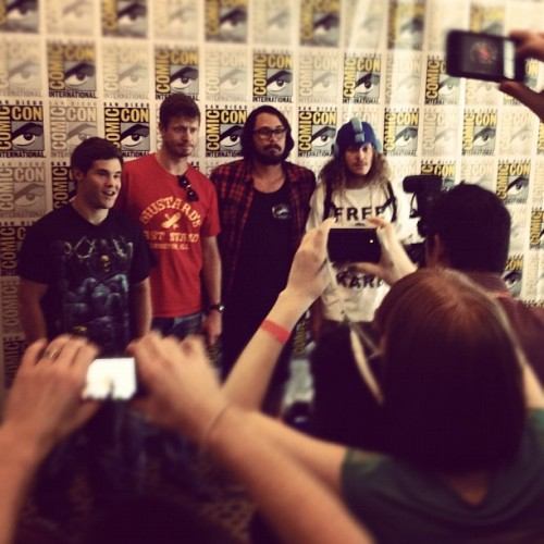 comedycentral:  The #Workaholics press conference at #SDCC. (Taken with Instagram)