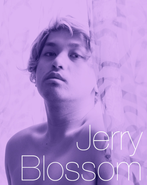 "WHO IS JERRY BLOSSOM? Jerry Blossom is an Asian person of ambiguous descent. He is often seen wearing a blonde wig, and uses foundation that's at least 3 shades lighter than his natural skin tone. Outwardly, he seems to be desperately trying to fit in to a Western ideal image of blonde hair and fair skin, and yet he does so critically and consciously. He is not ""playing whiteface"" or acting as or pretending to be, a white person, but rather, embodying (or failing to embody) the standards of global whiteness.His manner of dress is often that of a dandy, appearing to be upper-middle class male, although he also plays with wearing women's garments.Jerry is a social chameleon, able to ingratiate himself in the favor of people from varied personalities, gender ambiguities, and social classes. By changing his personality with each encounter, however, ""the real Jerry Blossom"" remains a mystery.Jerry is also an entertainer and somewhat of a celebrity in Southeast Asia, and is the current face of Eskinol, a skin lightening facial cleanser popular in the Philippines."