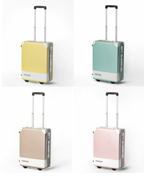 laughingsquid:  Colorful Pantone Hard-Sided Suitcases