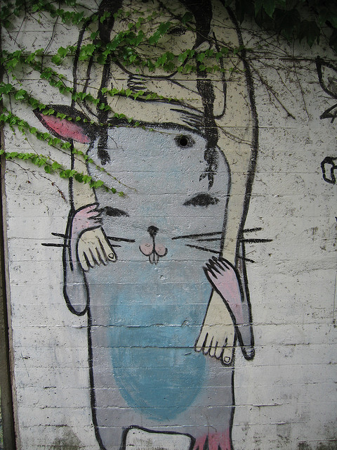 Cute Japanese Wall Creature by sanchome on Flickr.