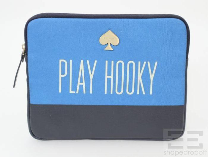 "Good advice: Kate Spade Blue Canvas ""Play Hooky"" iPad Case @shopedropoff.com"
