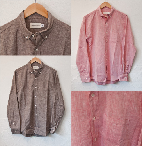 Department Seventeen's Burnt Oatmeal and Red Chambray