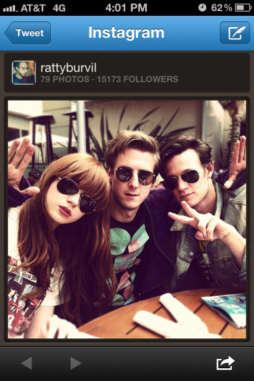 doctorwho:  Karen, Arthur, and Matt at Comic-Con