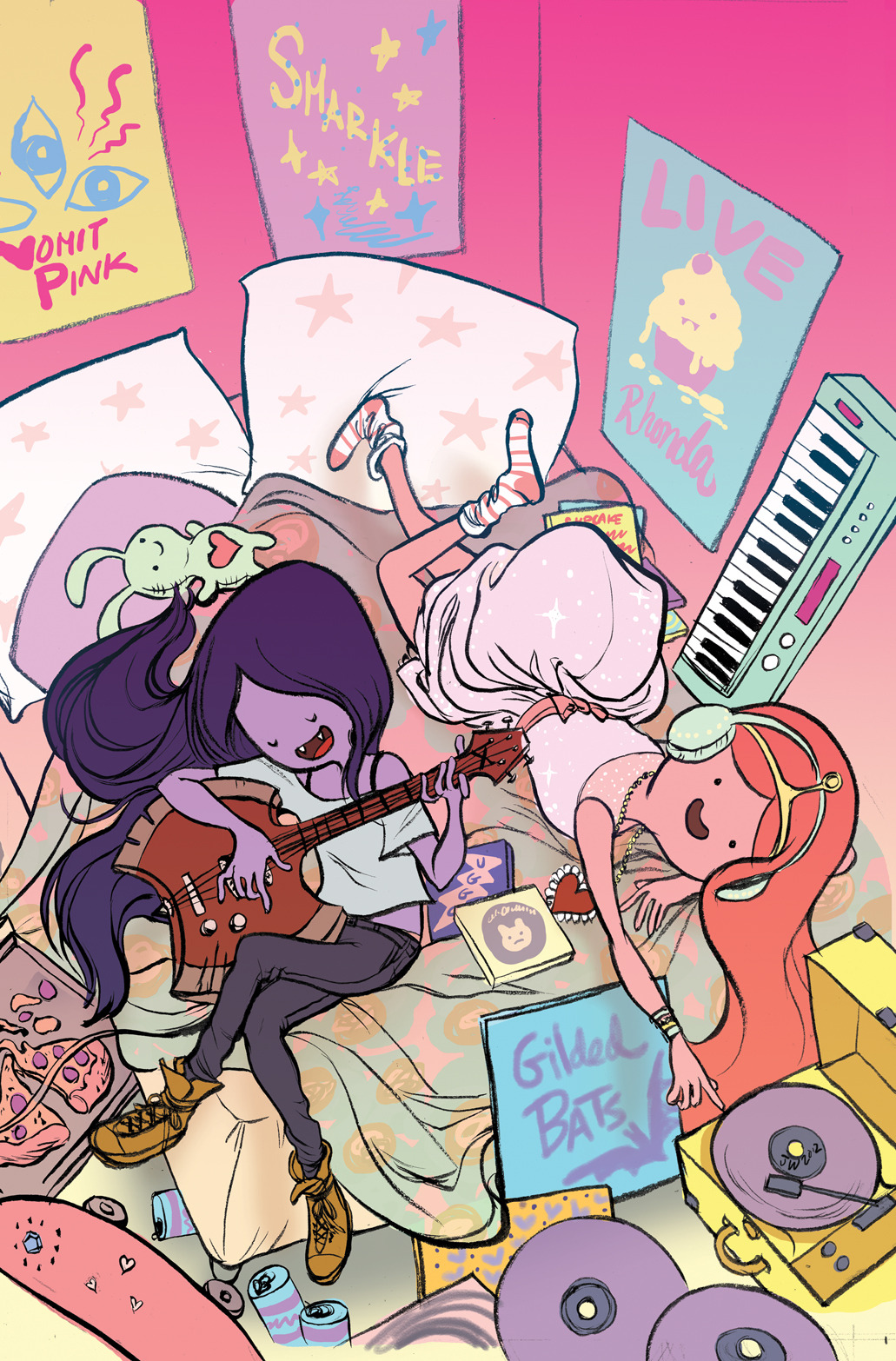 saintsofhenhepello:  Marceline and the Scream Queens ish #1 Siggity sick! cover by Jen Wang!