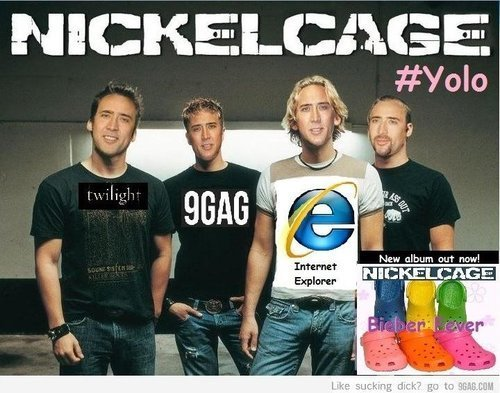 knowyourmeme:  This is my new favorite band. KYMdb - Nicolas Cage