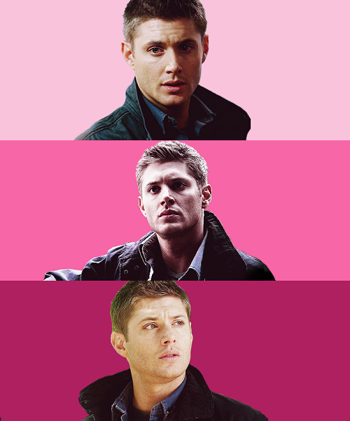 dnwinchester:  color meme: dean in pink for stine
