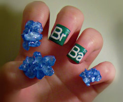laughingsquid:  Breaking Bad Nails   Appropriate.