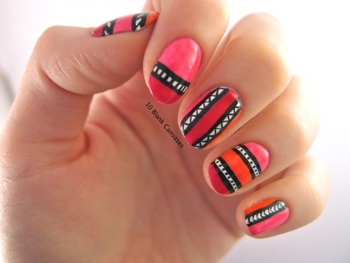 Nail design using Tip Top nail polish