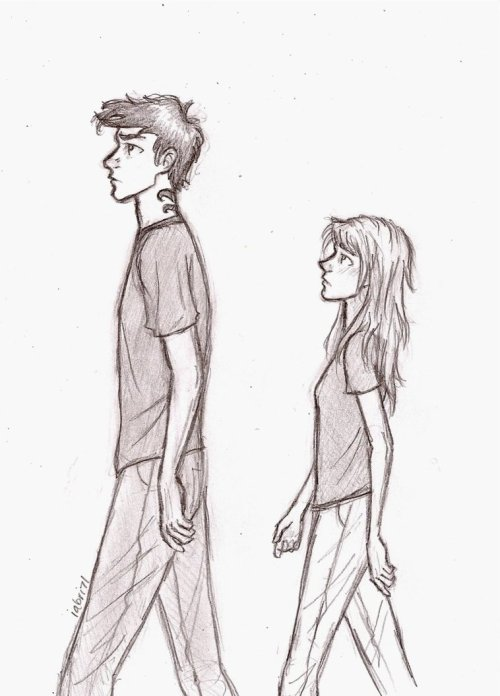 marauderxing:  Four and Tris. I love the height difference and facial expressions. Source.