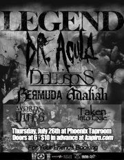 Check out my band Taken Into Exile on Facebook! We are playing this show.