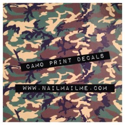 Camo print decals up now! (Taken with Instagram)