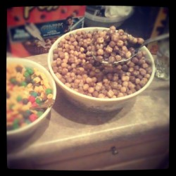 I mobbed on that bowl of Reese's Puffs.  (Taken with Instagram)