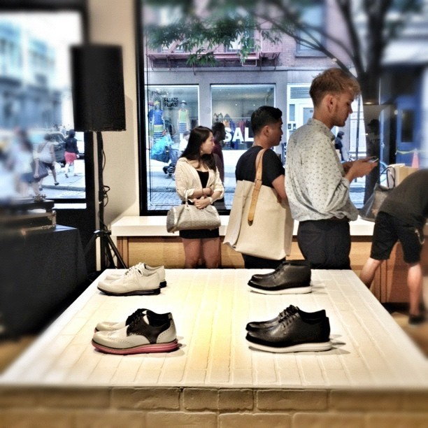 Fragment design x @Colehaan launch party. Which one should I buy!!! #nyc #soho #colehaan #menswear #fashion #shoes  (Taken with Instagram at Cole Haan)