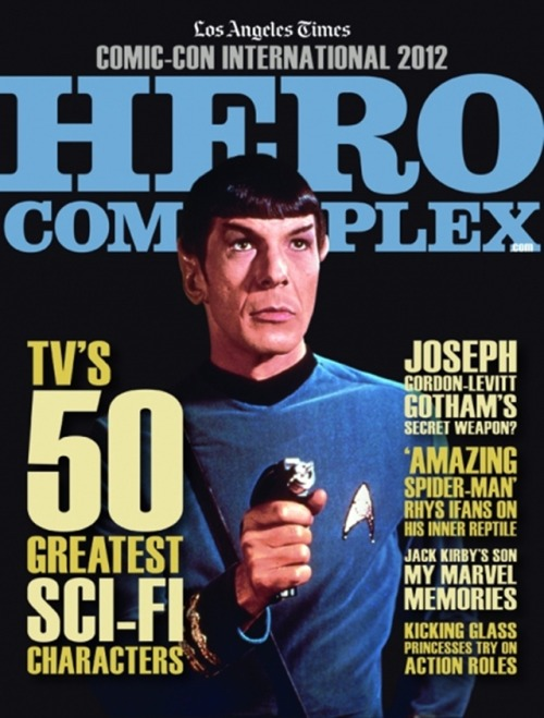 "The 2012 Comic-Con International edition of Hero Complex: The Magazine ""The choice we made for our cover portrait is completely logical: Mr. Spock of the USS Enterprise as portrayed by Leonard Nimoy on ""Star Trek"" in the 1960s."" source  luvmoonsurfacecpine"
