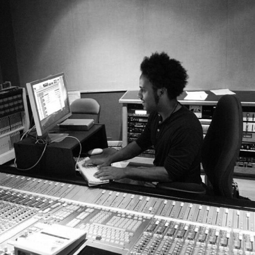 Nick setting up in the studio #TBT (Taken with Instagram)