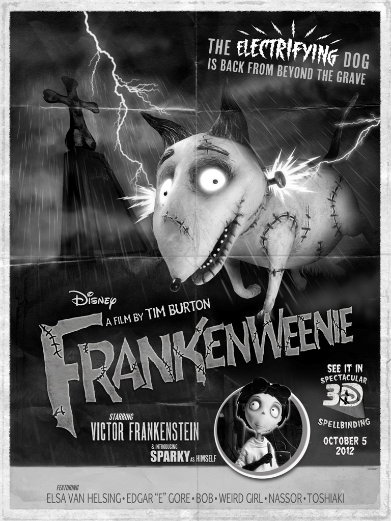suicideblonde:  New Frankenweenie poster from Comic-Con
