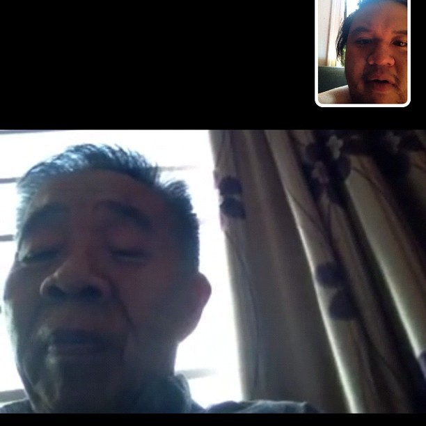 FaceTime with my daddy while he's in Vietnam.  (Taken with Instagram at Capitola Apartments)