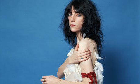 I've finally written up my feelings on Patti Smith's autobiography, Just Kids!  This book is a biography of a friendship, though, and the most interesting thing to me about Just Kids as a period piece is how the mechanics of friendship have and haven't changed. Patti and Robert [Mapplethorpe] are always making each other little gifts; they express themselves to each other with a lot of tactile effort and physical creations. They take long train rides or spend hours at diners together; they write letters and make collages or poppets or jewelry. Today, for those ordinary adorations, we send links or texts or posts on a Facebook wall. I found Patti Smith because of a podcast, on iTunes, on an iPod.  Includes Beirut, nostalgia, starving artists and punk rock. Read on at M&W! I left this out, but another thing that gets me about Just Kids is that I am the biggest sucker for people who show their love for each other by making art with, of or for their person. Which is something the internet does so, so well, and which I love to see happen.
