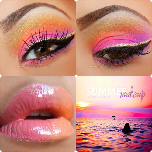 Summer sunset makeup by Palmira T.!