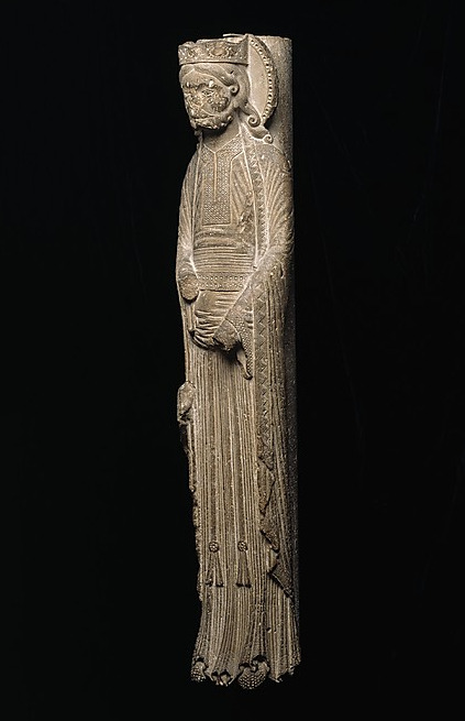 Romanesque Column Statue in the Metropolitan Museum of Art, New York