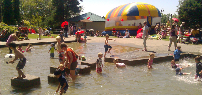 Wallingford Playfield's Wading Pool