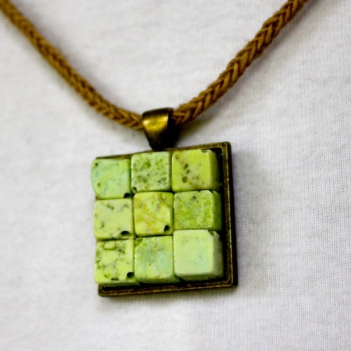 DIY Beginner Bead Pendant by Betsy at AnnaNimmity.com for The Frugal Girls here. There are lots more examples of using square trays with beads at the link - but I liked the square beads above the best.