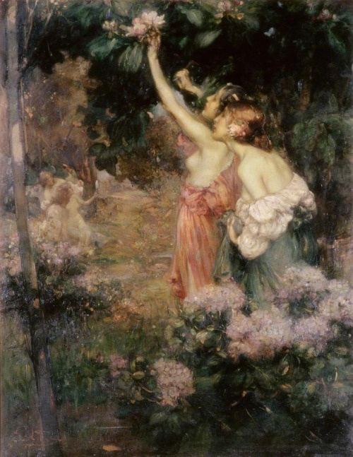 labellefilleart:  Fields Elysian, Cecil William Rea